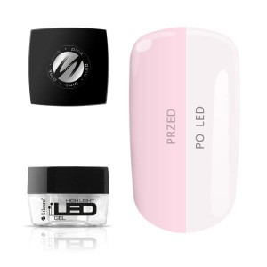 Żel 2w1 Led 30s UV 120s Silcare High Light LED Pink Różowy transparentny 15 g - ml